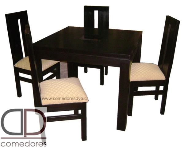 Comedor cuadrado 100x100 4 sillas comedores dyp for Comedores economicos y bonitos