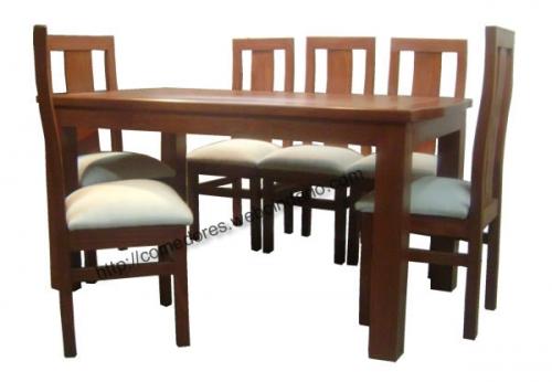Comedor rectangular esquina curva 6 sillas comedores dyp for Comedores triangulares de 6 sillas