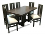 comedor rectangular pata central 6 sillas