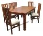 Comedor rectangular esquina curva 6 sillas