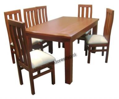 Juego comedor mesa rectangular esquinas con curva 154x90 - Disenos de comedores de madera ...